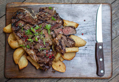Steak and chips offer